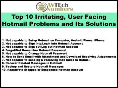 top 10 baumhäuser top 10 irritating user facing hotmail problems and its