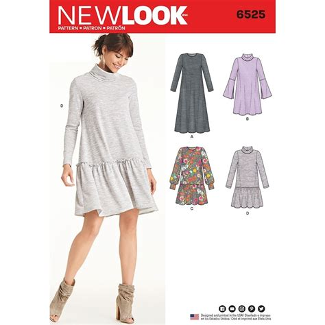 Knit Dress 20 misses knit dress new look sewing pattern 6525 sew essential