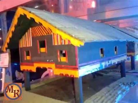 cara membuat rumah adat jambi dari kardus miniatur rumah panggung rumah adat aceh rumoh aceh youtube