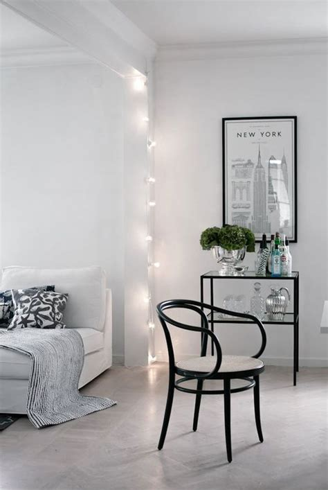 cozy string lights ideas  living rooms digsdigs