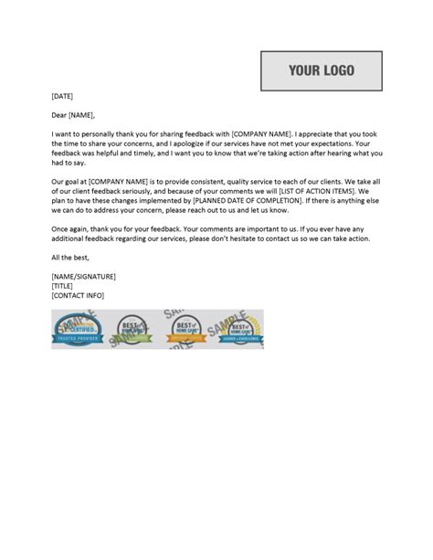 Response Letter To Negative Evaluation Negative Feedback Response Template Home Care Pulse