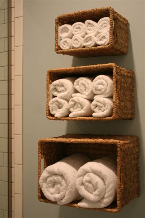 wall baskets for bath linen storage organize my life