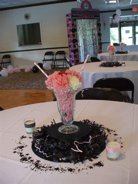 50 s table decorations 50th anniversary sock hop centerpieces decorating ideas