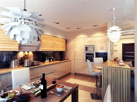 Contemporary Kitchen Lighting Ideas by Modern Chic Kitchen Lighting Ideas Jpg