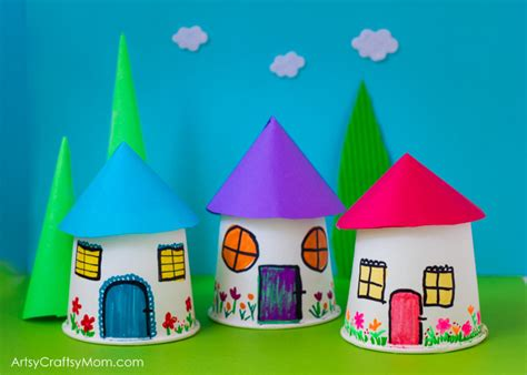 Shoe Home Decor by Paper Cup Miniature Village Craft Artsy Craftsy Mom