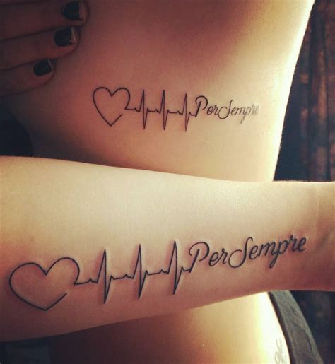 heartbeat tattoo with name italian quot forever quot beat venice