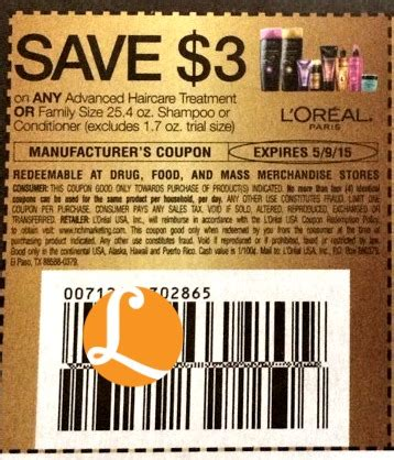 l oreal products 5 00 printable coupon l oreal advanced coupon 0 32 at target 4 19 living rich with coupons 174