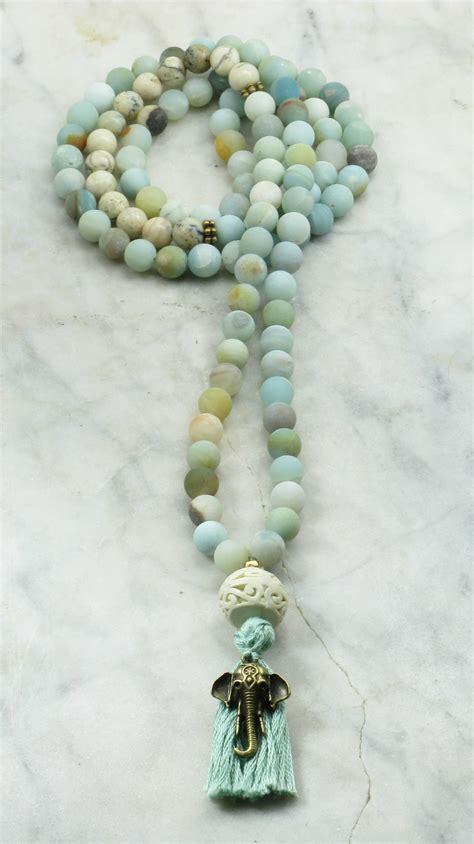 mala bead s mala 108 amazonite and opal mala