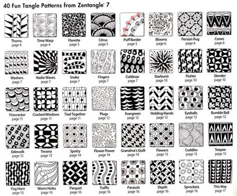 pattern drawing pdf zentangle 4 inspiring circles zendalas shapes by