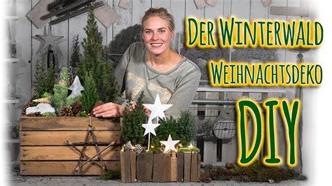 Weihnachtsdeko Gartentisch by Weihnachtsdeko Diy Der Winterwald