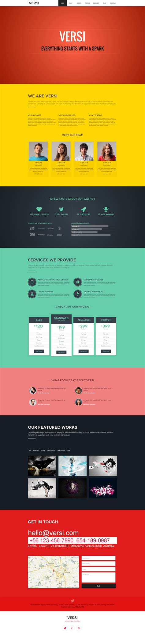 one page template versi onepage theme by rocknrolladesigns