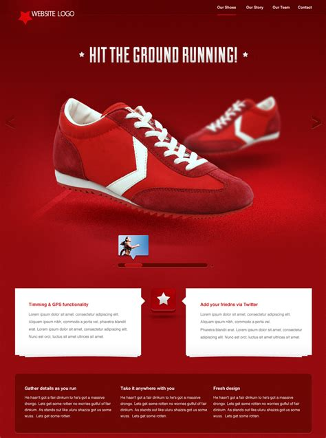 sneaker website templates for a shoes stores websites drawing inspiration