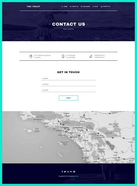themeforest contact support the crazy creative agency wp template by noxonthemes