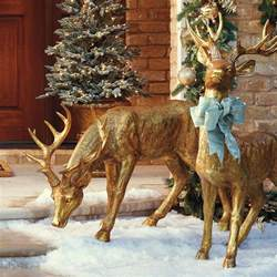 feeding gold stag frontgate outdoor christmas