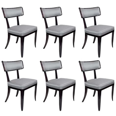 Klismos Dining Chairs Stunning Set Of Six Klismos Style Dining Chairs By Dunbar At 1stdibs
