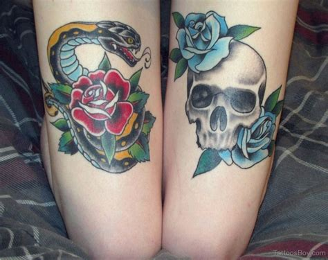 skull rose snake tattoo skull tattoos designs pictures