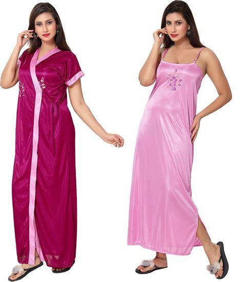 Fashigo Women's Nighty   Buy Light Pink, Dark Pink Fashigo Women's Nighty Online at Best Prices