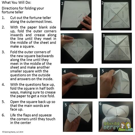 How To Make A Cootie Catcher Out Of Paper - cootie catchers fortune tellers superb study tools for