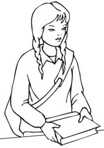 coloring page of school girl school girl coloring page free printable coloring pages