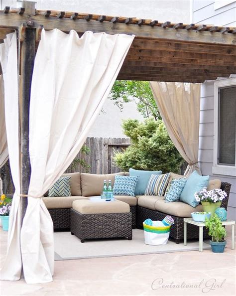 outdoor curtains for pergola easy outdoor curtain diy tutorial made from lowes canvas