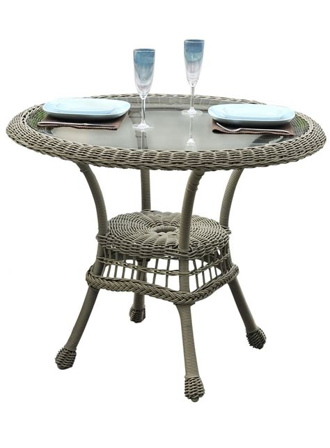 Rattan Bistro Table Panama Carolina 30 Quot Wicker Bistro Table Wicker Dining Tables Wicker Dining