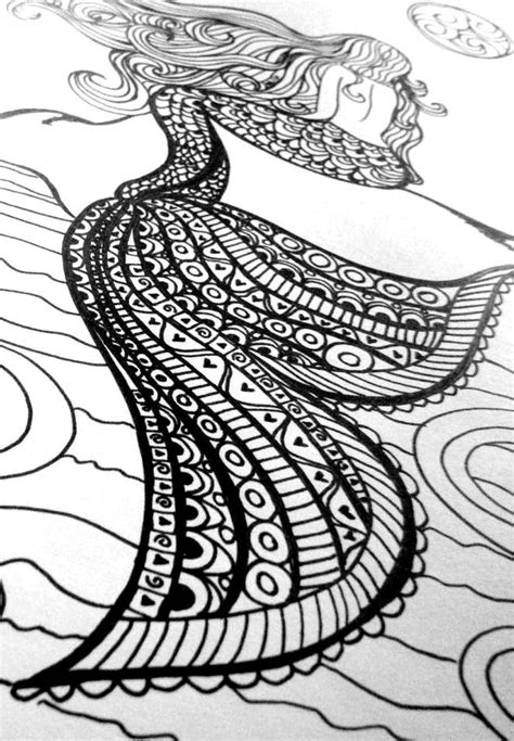mermaids grayscale coloring book coloring books for adults books coloring book for mermaid coloring book for