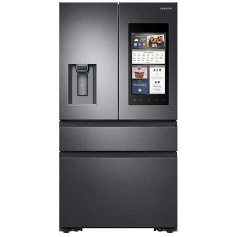 samsung cabinet depth door refrigerator samsung 22 5 cu ft door refrigerator in black