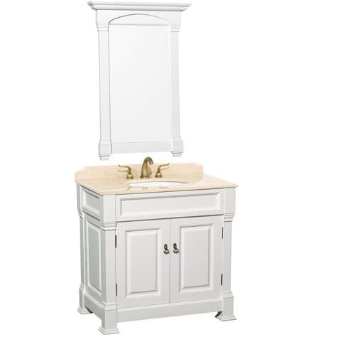 bathroom vanity white 36 36 quot andover single bath vanity white bathgems com
