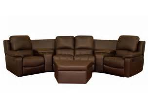 theater sofa broadway home theater seating sectional brown stargate