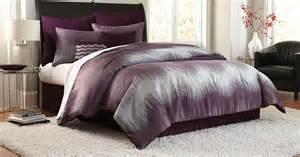 cannon 8 piece jacquard chevron comforter set purple