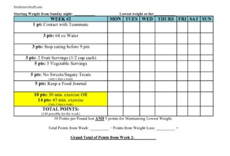 5 weight loss goal 6 best images of printable weight loss goal setting