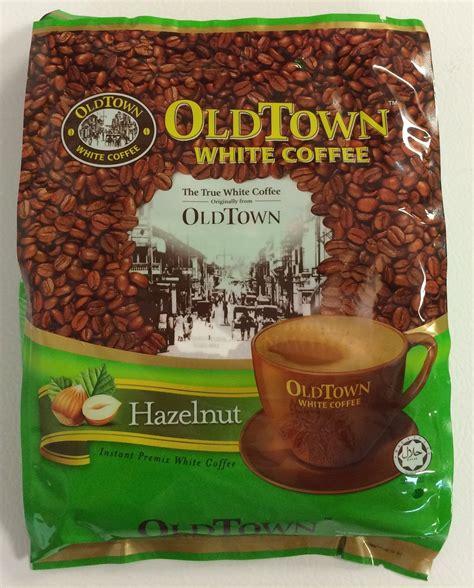 White Coffee Hazelnut town instant hazelnut white coffee