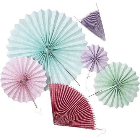 How To Make Hanging Paper Fans - set of 6 colourful hanging paper fans rice dk vibrant home