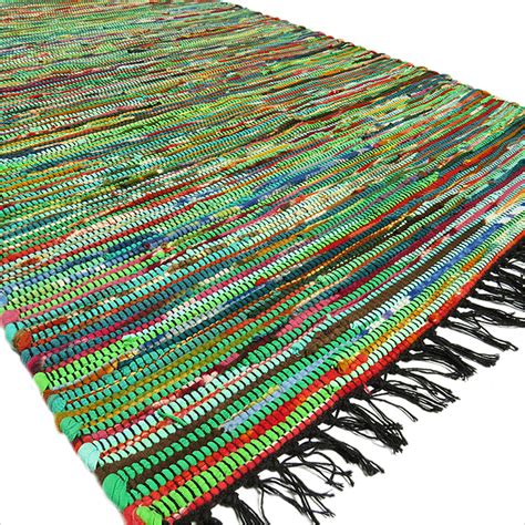 Indian Rag Rug by 3 X 5 Ft Green Rag Rug Chindi Floor Mat Carpet Tapestry