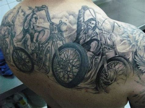 motorcycle sleeve tattoo designs biker motorcycle tattoos page 3