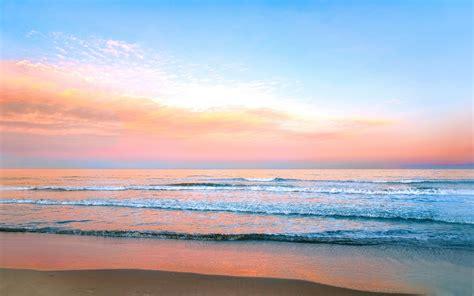 %name Colorful Wall Art   Earth Scenic Cloud Highres Orange Pink Sea Beach Sky Nature Pastel Horizon Colorful Blue Wallpaper