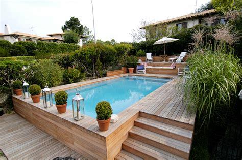 infos sur piscine semi enterree bois arts et voyages