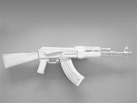How To Make A Paper Gun Ak 47 - paper wars core77