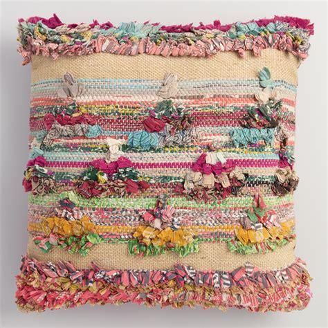 multicolor chindi throw pillow world market