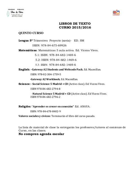 Libros texto 2015/16