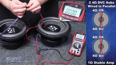 como conectar subwoofers a 1 2 4 6 8 ohms hd