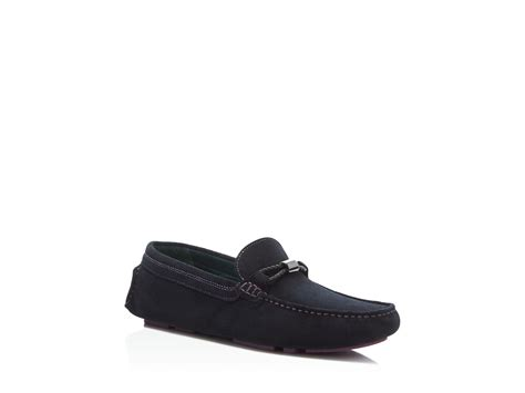 ted baker suede loafers ted baker carlsun suede driving loafers in black for