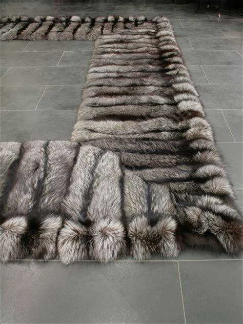 real fur rug 368 saga silver fox fur bedside rug real fur rug genuine fur ebay