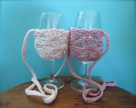 wine glass holder patterns  crocheters  pretty knithacker