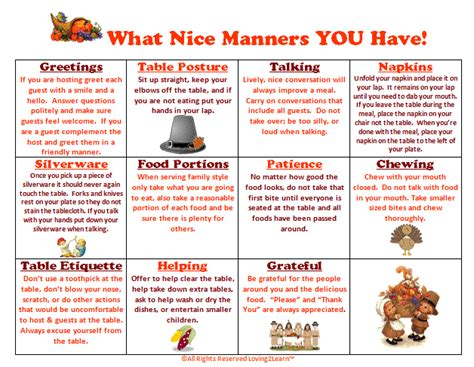 printable etiquette worksheets what manners you