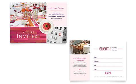 corporate event planner caterer brochure template design corporate event planner caterer invitation template design