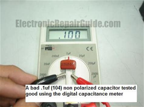 how to test bad capacitor with digital multimeter esrmeter