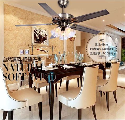 ceiling fan in dining room 48 inch iron leaf lights fan living room dining room