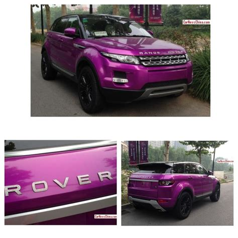 purple range rover a very flashy range rover evoque spotted in beijing china