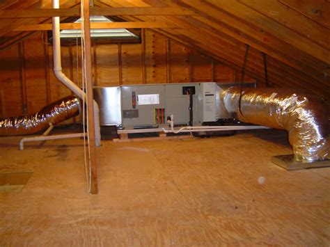 attic mounted air conditioning units how to inspect hvac systems course page 515 internachi